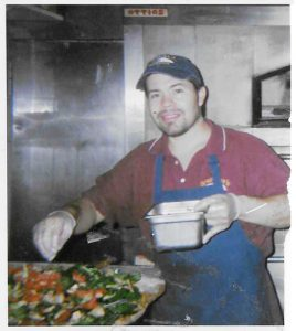 Salazar has worked at the popular Inwood eatery since the day it opened in 2004; here he is making pizza in 2005.
