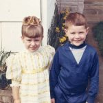 Sandra Luckow (left) with her brother, circa 1969.