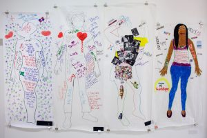 Artwork created by Life is Precious participants, on display at the El Museo del Barrio in 2013.