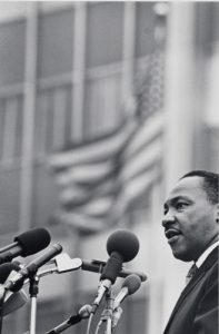 Benedict J. Fernández, untitled [Dr. Martin Luther King, Jr.], April 15, 1967. Museum of the City of New York, 99.150.3.