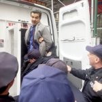 Councilmember Ydanis Rodríguez arrested at a protest of ICE.