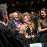 Matilda Cuomo, the Governor's mother, was recognized.