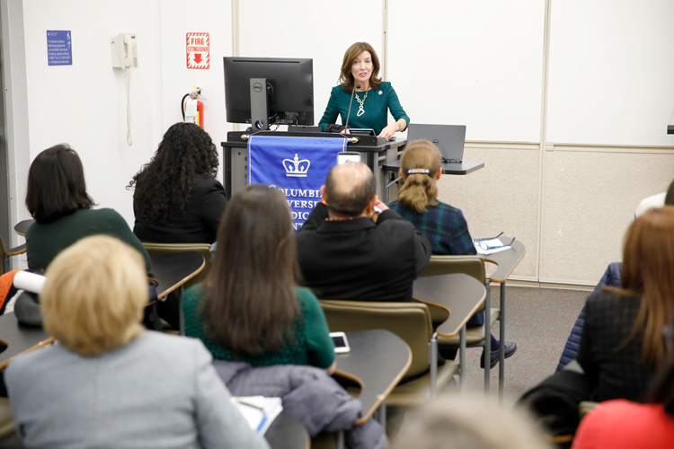 Lieutenant Governor Kathy Hochul visited Columbia University Medical Center.