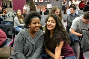 Daisha Quezada (right) and Ashley Serrano are leaning towards medical careers.