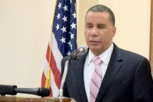 Former Governor David Paterson accepted an award on behalf of former Congressman Charles B. Rangel.