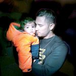 Jesús Laluz and his two-year-old son Adrien migrated from Puerto Rico. Photo: William Alatriste | NYC Council