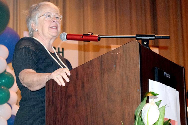 Schools Chancellor Carmen Fariña speaks at the campus graduation this past spring.