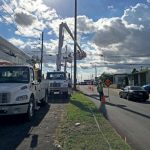 Engineers have worked to repair power lines. Photo: Jay Field