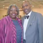 Dr. Irma McClaurin posed with Councilmember Bill Perkins.