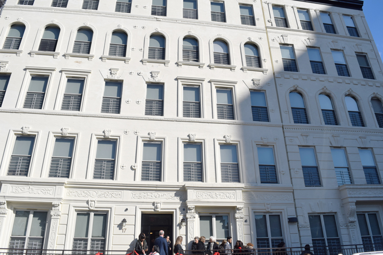 The new supportive housing facility was built on the site of a formerly vacant site.