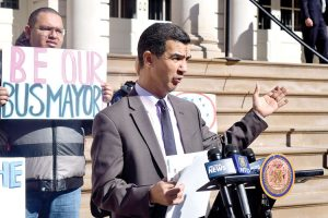 """""""We should be able to modernize our buses,"""" stated Councilmember Ydanis Rodríguez."""