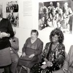 One from the archives: Dr. Vega (standing) with artists Celia Cruz and Pedro Knight.