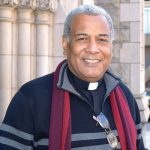 """""""Eating is a human right,"""" said Reverend Luis Barrios of Holyrood Church."""