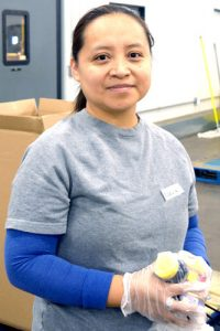 """It's nice to feel that we're helping out,"" said volunteer Argelia Cordero."