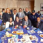 The members of TWU Local 100 gather for breakfast.