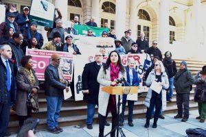 """Rent regulated housing keeps this city balanced,"" said Councilmember Carlina Rivera."