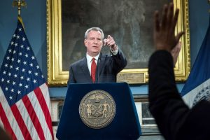 """Richard is the right person to lead our school system forward,"" said Mayor Bill de Blasio."