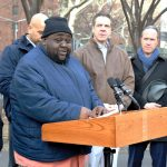 """We will no longer be ignored,"" said NYCHA tenant leader Danny Barber. Photo: G. McQueen"
