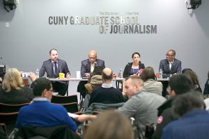 It was Council Speaker Corey Johnson's first time at the Newsmakers series.