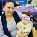 """""""All the help really helped me,"""" said Verónica Munive, mother of two-month-old Charlene."""