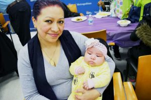 """All the help really helped me,"" said Verónica Munive, mother of two-month-old Charlene."