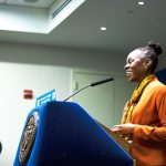 """""""The sense of security and stability for too many people is gone,"""" said First Lady Chirlane McCray. Photo: Mayoral Photography Office"""