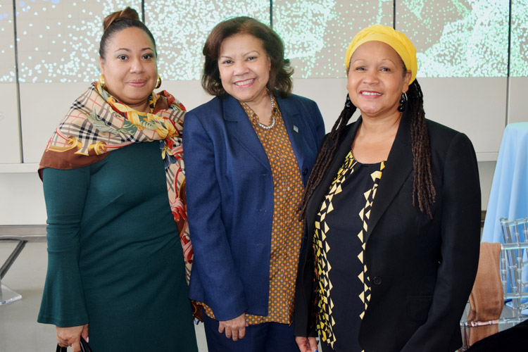 From left: Quenia Abreu, President and CEO of the New York Women's Chamber of Commerce; Ana García-Reyes, Associate Dean for Community Relations at Hostos Community College; and Rosita Romero, Executive Director of the Dominican Women's Development Center.