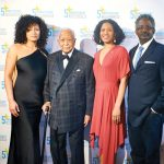 From left: Honoree Demma Rosa Rodríguez; former Mayor David Dinkins; Lewis Halpern; and Google's Senior Engineering Director Marcus Mitchell.
