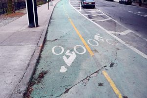 Rodríguez is now advocating for a single, two-way bike lane. Photo: Gregg McQueen.