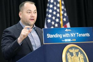 """Every public housing resident deserves to live with respect,"" said Council Speaker Corey Johnson. Photo: Office of the Governor"