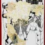 Levin Lilia's mixed media piece is titled Joan of Arc Was My Grandmother.