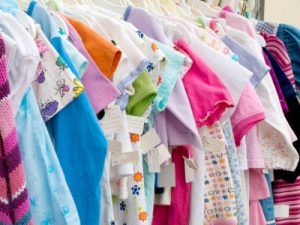 A clothing swap is one of many creative ways to keep your child looking fashionable and cute while also cutting down on costs.