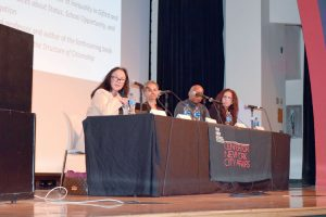 The panel focused on issues of school segregation and diversity.