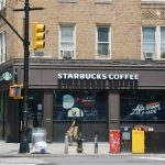The Starbucks shop on Dyckman closed for the afternoon.
