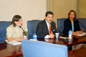 """Sometimes I have to call things out,"" said new Schools Chancellor Richard Carranza (center)."