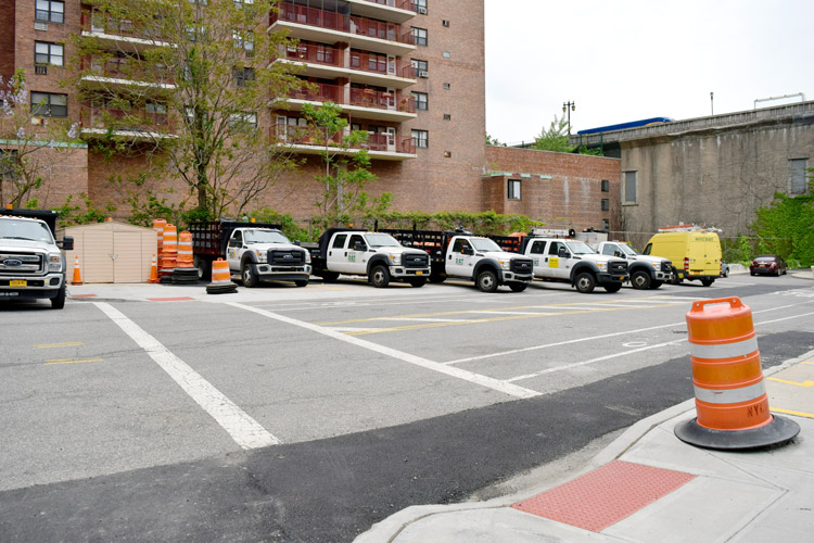 The city-owned site was recently transformed into a maintenance truck lot.