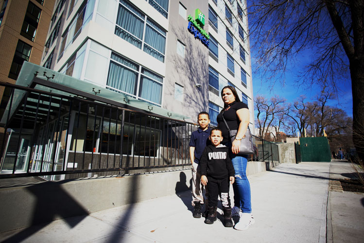 There are currently 83 families living in New York City hotels under the TSA program. Photo: C. Vivar