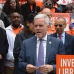 """Libraries are """"the heart and soul of a democratic society,"""" said Councilmember Jimmy Van Bramer."""