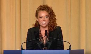 Comedian Michelle Wolf at the White House Correspondents' Dinner.