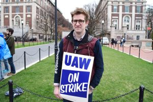 "Teaching Assistant Charles Pletcher said a new contract was essential for ""holding Columbia accountable."""