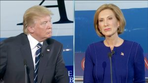 Trump with primary opponent Carly Fiorina.