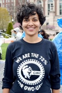 """The strike really sends a message,"" said Teaching Assistant Tania Bhattacharyya."