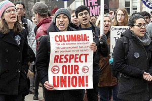 Striking workers have picketed every day for a week on campus.