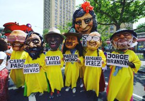 The Cabezudo contingent has featured prominent figures.