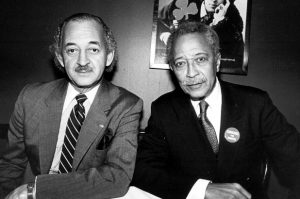 Farrell with David Dinkins.