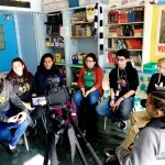 Students practiced filming interviews. Photo: Anthony Voulgarides