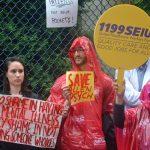 Nurses rallied across New York City.