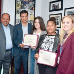 The students were recognized by Councilmember Ydanis Rodríguez.