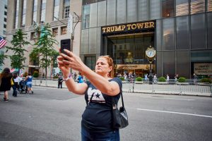 Melissa Mark-Viverito takes a selfie.