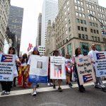 Maestros de escuelas públicas de Puerto Rico marcharon.